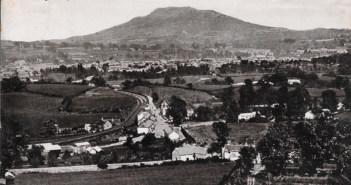 Abergavenny and Holy Mountain Postcard Front
