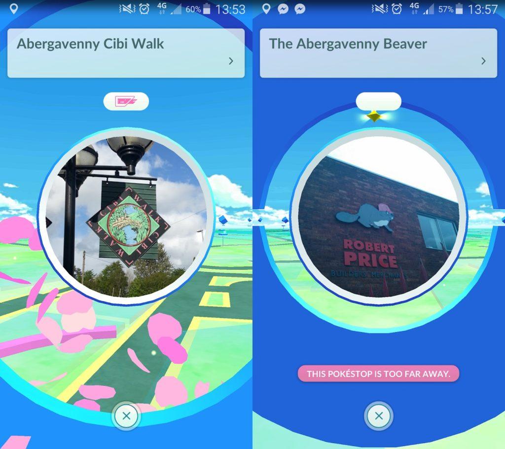 Pokestops (Abergavenny Pokemon Go)