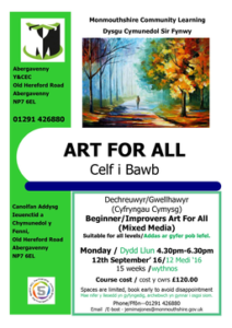 Art for All - Mixed Media Art Class @ Abergavenny  Community Learning Centre | Abergavenny | Wales | United Kingdom