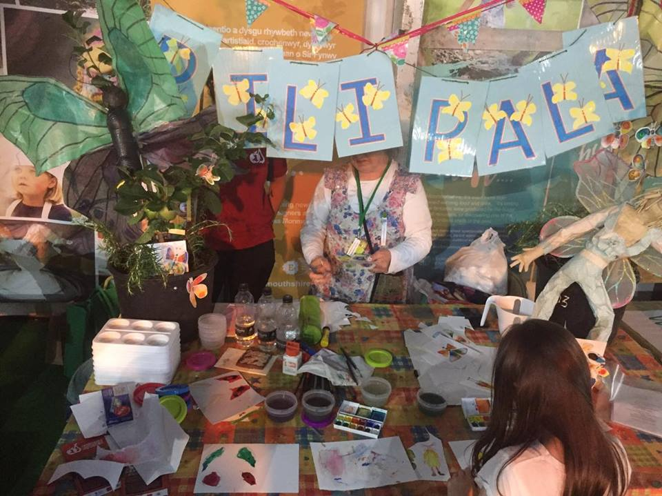 Jacobi's butterfly painting art stall