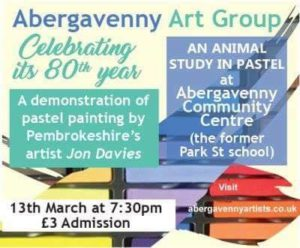 Pastel Painting by Jon Davies @ Abergavenny Community Centre | Wales | United Kingdom