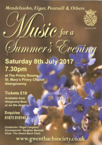 Music for a Summers Evening @ The Priory Rooms, St Marys Priory Church | Wales | United Kingdom