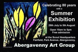 Abergavenny Art Group 80 Years Summer Exhibition Celebration @ Scout Headquarters, Fairfield, Park Avenue, Abergavenny