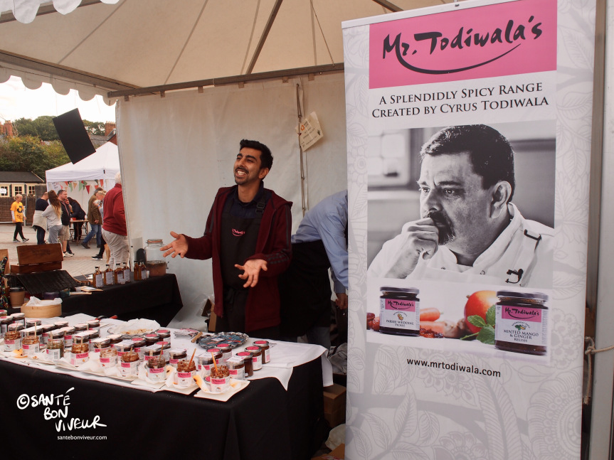 Mr Todiwala's son at their Indian spice & pickle stall, grown out of the Café Spice Namasté restaurant concept
