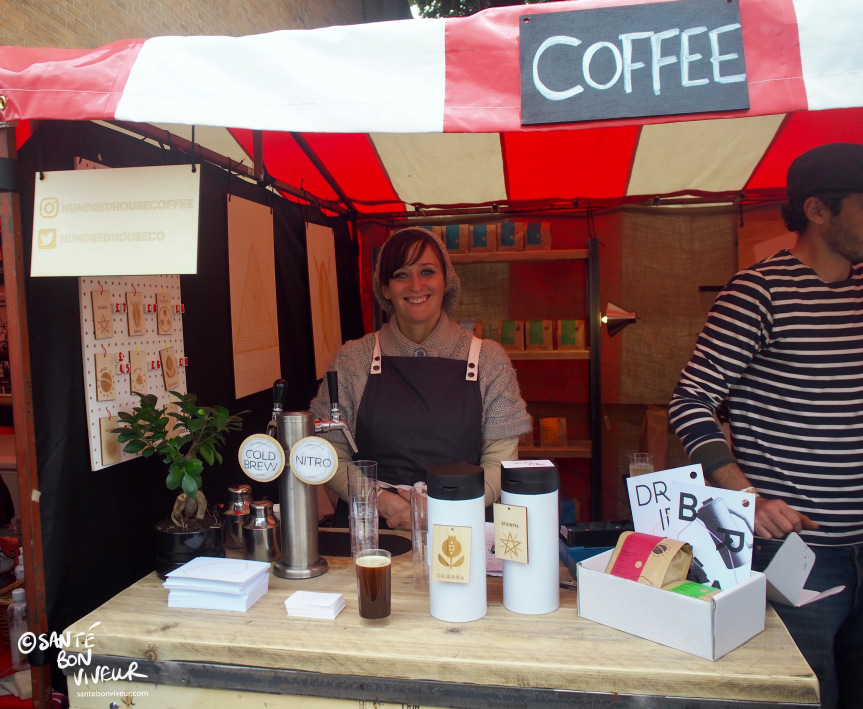 Anabelle de Gersigny at the Hundred House Coffee stall