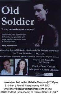 Old Soldier @ The Melville Centre | United Kingdom